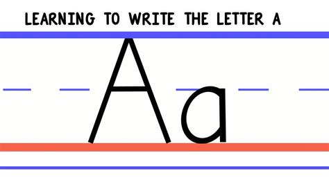 write the letter a abc writing for alphabet