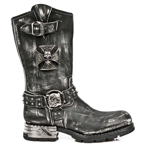 vintage motorcycle boots vintage rub leather motorcycle boots w iron cross