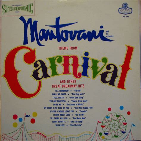 mantovani hits mantovani and his orchestra theme from carnival and