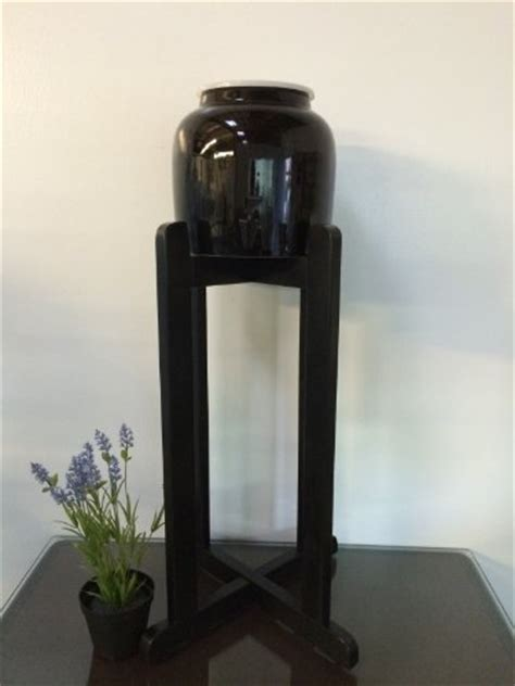 Porcelain Ceramic Water Dispenser Solid Black Spigot and