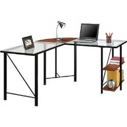 staples glass computer desk altra furniture aden corner glass computer desk staples 174