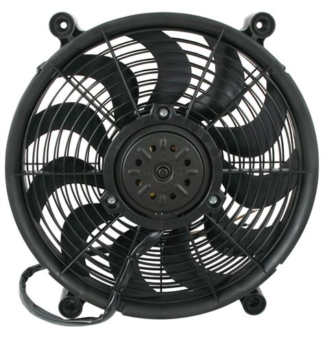 best electric radiator fans derale 14 quot high output electric single radiator fan