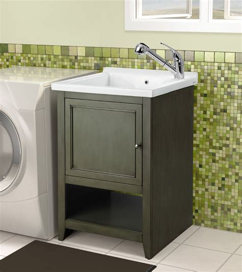 Laundry Room Vanity Cabinet Your Guide To Laundry Room Sinks For More Functionality Traba Homes