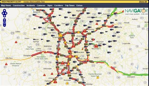atlanta ga map atlanta traffic map map