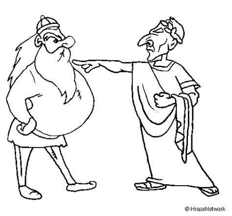 Julius Caesar With A Gaul Coloring Page Coloringcrew Com Julius Caesar Coloring Pages