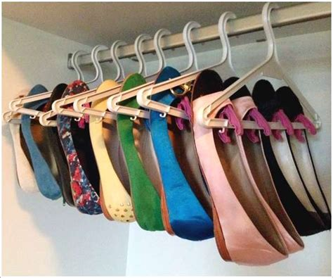 creative shoe rack design for a neat and 5 cool and creative organization hacks using cloth hangers