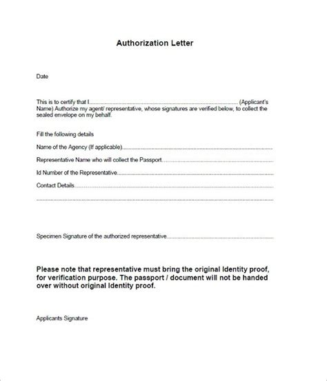 authorization letter doc 40 authorization letter sle templates free pdf word