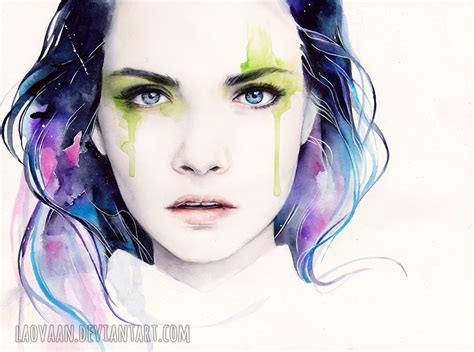 watercolor tutorial photoshop tumblr watercolor portrait cara delevingne by laovaan on deviantart