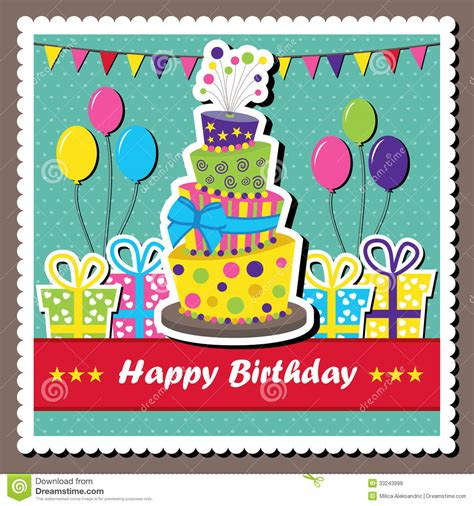 vector birthday card royalty free stock images image