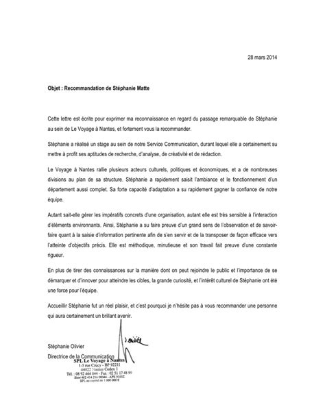 Lettre De Recommandation Pour Un étudiant Lettres De Recommandation Letters Of Recommendation St 233 Phanie Matte