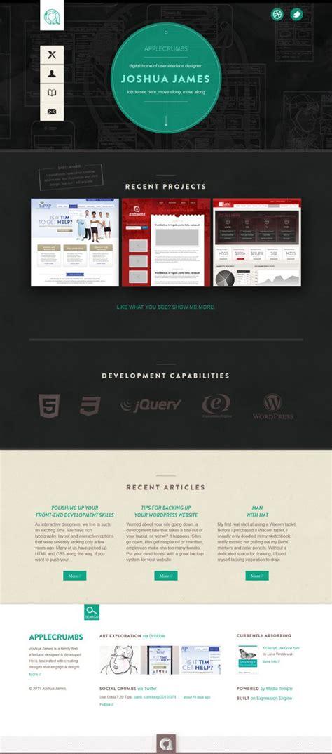 Interactive Designer Description by Applecrumbs Digital Home Of Interactive Designer Joshua Webdesign Inspiration Www
