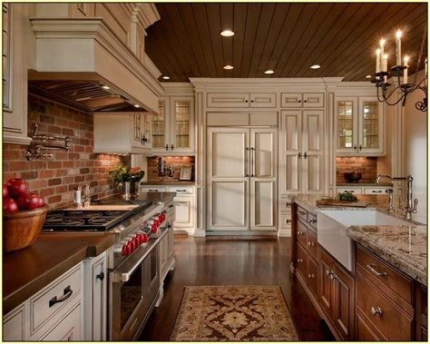 brick kitchen backsplash best 25 kitchen brick ideas on exposed brick
