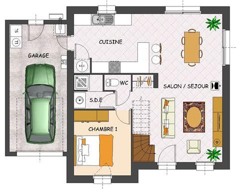 plan de maison neuve avec 4 chambres