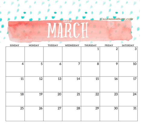 editable calendar template march 2018 2018 monthly printable templates calendar 2018