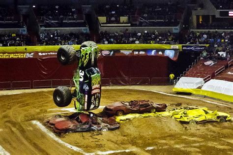 monster truck jam verizon center we crush the cars inside the monster truck arena new