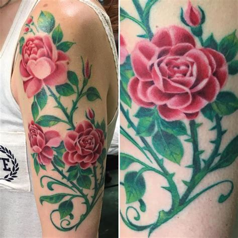 rose bush tattoo bush by big mike tattoonow