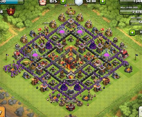 layout coc town hall 7 best clash of clans town hall level 10 defense base design