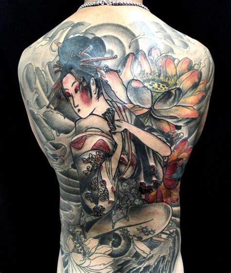 tattoo de geisha en espalda 50 japanische geisha tattoos