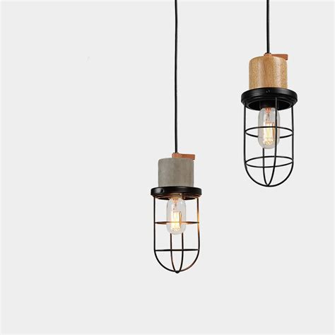 industrial cage pendant light industrial cage pendant light concrete therapy shop by