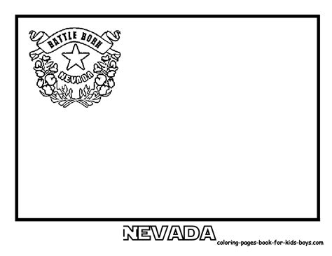 nevada state flag coloring books picture education