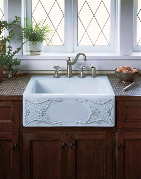 small top mount farmhouse kitchen sink with white color