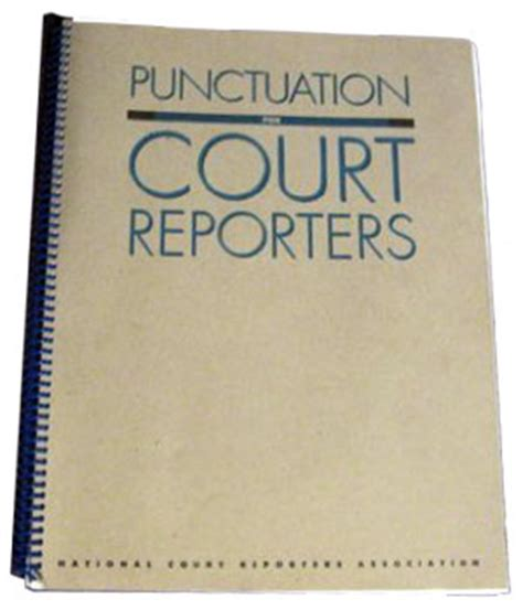 court reporter book punctuation for court reporters