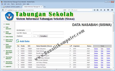 Source Code Website Profil Sekolah Dengan Php Mysql source code php sistem informasi tabungan sekolah siswa