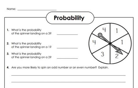 printable probability games math worksheets for 7th grade 7th grade online math