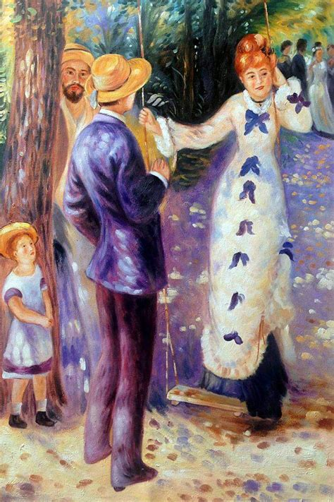 the swing renoir wall renoir the swing reproduction paintings