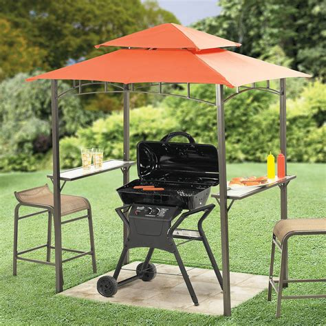 gazebo umbrella for the apartment condo patio mini grill zebo