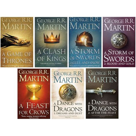of thrones books a of thrones 7 volume book box set song of and