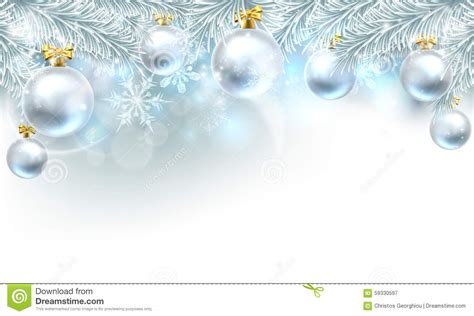 christmas bauble background top border stock vector