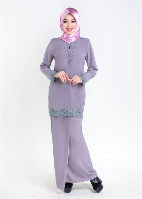 Baju Songket Grey baju kurung moden sophea kurung grey lovelysuri