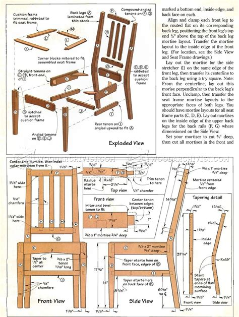 wooden stool furniture plans
