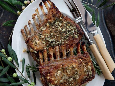 garlic crusted roast rack of lamb recipe kenny rochford food wine