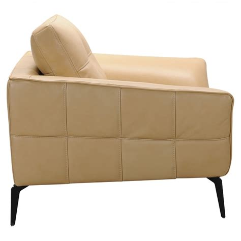 leather sofa beige divani casa forge modern beige leather sofa set