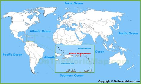 British Virgin Islands Map Location | blank map of the british virgin islands my blog