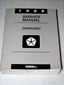 Chrysler Corporation Phone Number by 1999 Dodge Durango Service Manual Complete Volume