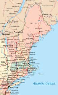 Where Is New England On The Map by New England Map Maps Of The New England States