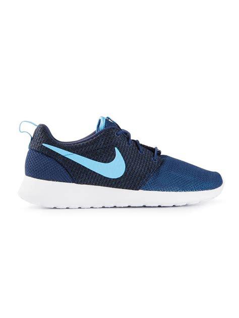 nike roshe run sneakers  blue  men lyst