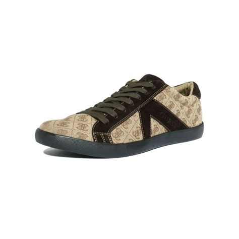 guess sneakers guess jocino2 sneakers in beige for beige brown lyst