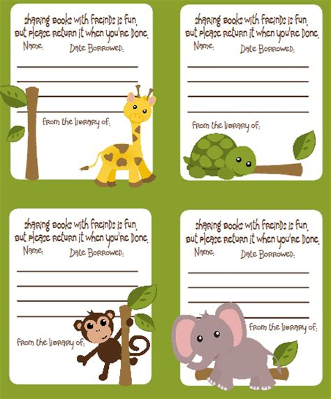 book labels template labels jungle pack free worldlabel