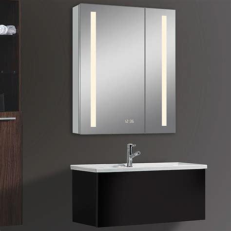 spiegelschrank 50 x 60 led spiegelschrank aluminio sun mit beleuchtung b x h