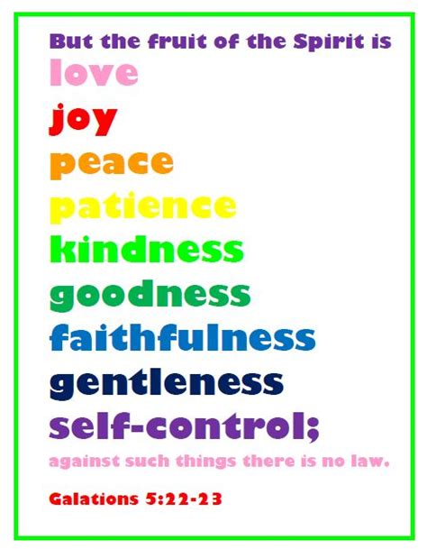 9 fruits learning center this simple home fruit of the spirit printable