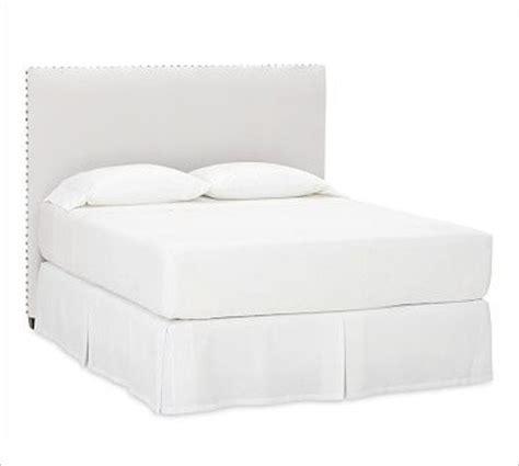 white nailhead headboard raleigh nailhead square headboard queen washed linen