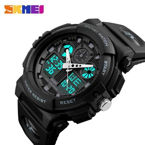 Jam Tangan Led Sport Watches jual jam tangan pria dual time skmei sport led