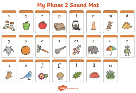 Phase 2 And 3 Sound Mat by Year 1 Lickey Primary School And Nursery