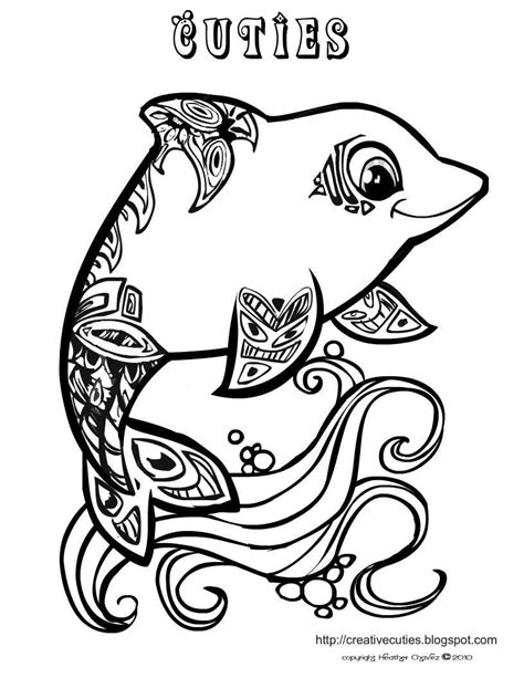 coloring pages for adults dolphins dolphin coloring page printables 1 pinterest creative