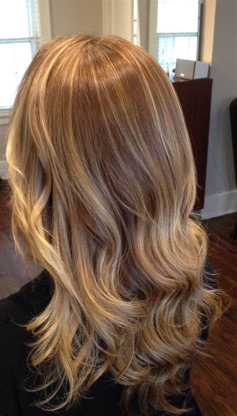 blonde highlights with ash base blonde waterfall of cascading color and highlights