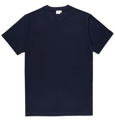 s cotton riviera t shirt in navy sunspel
